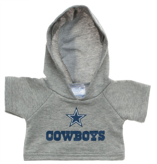 Touchdown! Cheer on the Dallas Cowboys with this teddy bear sized hoodie. This gray hoodie with team logo makes the perfect gift for any football fan.© 2015 NFL Enterprises LLC. Team names/logos are trademarks of the teams indicated.