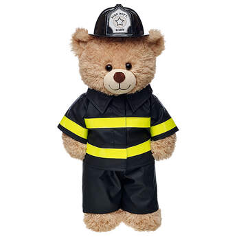 Your furry friend can save the day in this Firefighter Costume. This black firefighter costume includes a jacket, pants and helmet.