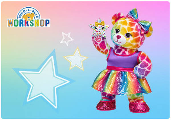 Give hugs in every color of the raiGive hugs in every color of the rainbow with an E-Gift Card to Build-A-Bear Workshop!