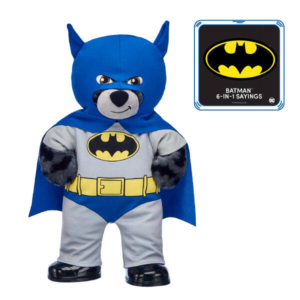 80th Anniversary Batman™ Bear with 6-in-1 Sayings - Build-A-Bear Workshop®