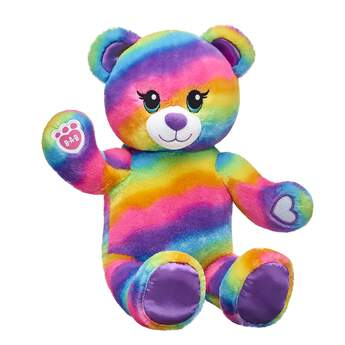 Friends forever…stick together! Not only is Rainbow Bear colorful as can be, but it has special paw pads so it can hold the paws of other Rainbow Friends.