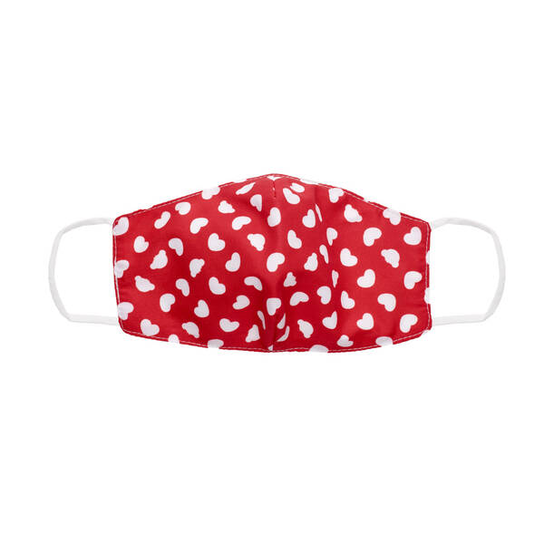 Adult-Size Red Hearts Face Mask - Build-A-Bear Workshop®