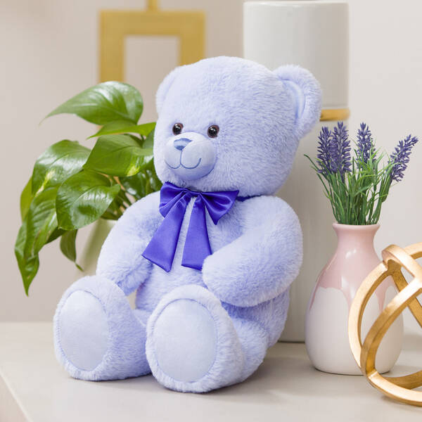 Online Exclusive Lavender Bear with Purple Bow, , hi-res