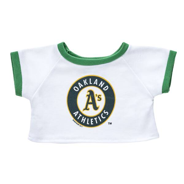 Home run! Root on the Oakland Athletics with this furry friend sized T-shirt! This cool tee makes the perfect gift for sports fans. Major League Baseball trademarks and copyrights are used with permission of Major League Baseball Properties, Inc. Visit MLB.com.