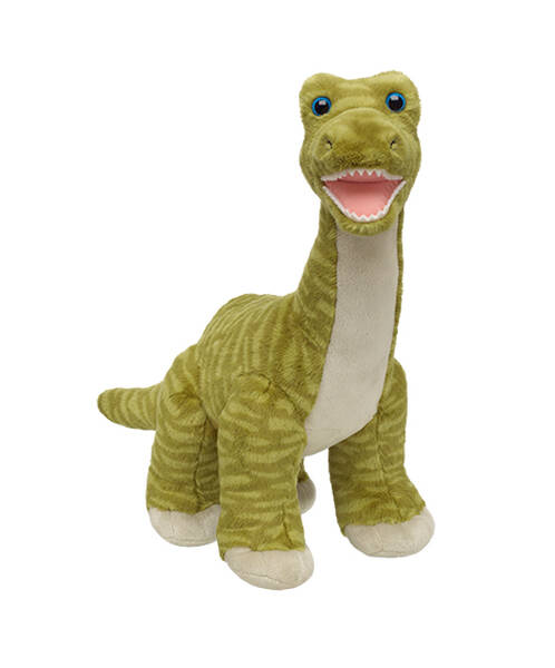 green striped brachiosaurus stuffed dinosaur