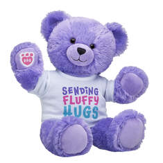 Online Exclusive Fluffy Purple Bear Gift Set, , hi-res