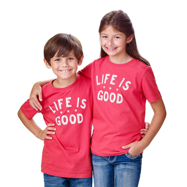 Red Life is Good® Kids M T-Shirt, , hi-res