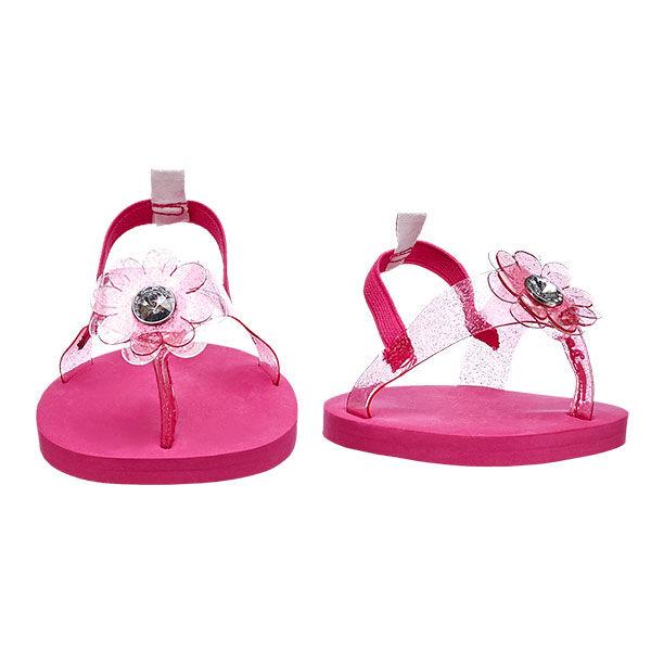 Pink Flower Jelly Sandals, , hi-res