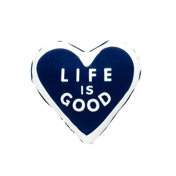 "Spead the Power of Optimism with this Life is Good® plush heart. It's just the right size for furry friend's arm!© 2016 The Life is Good Company. All Rights Reserved. ""Life is Good"" is a registered trademark."