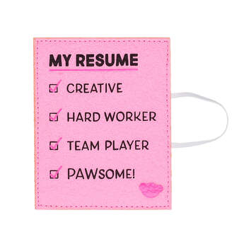 "Online Exclusive ""My Resume"" Pink Wristie - Build-A-Bear Workshop®"