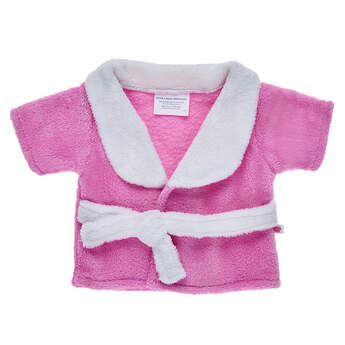 e67584e6b Pamper your furry friend by dressing them in this ultra-soft pink and white  bathrobe ...
