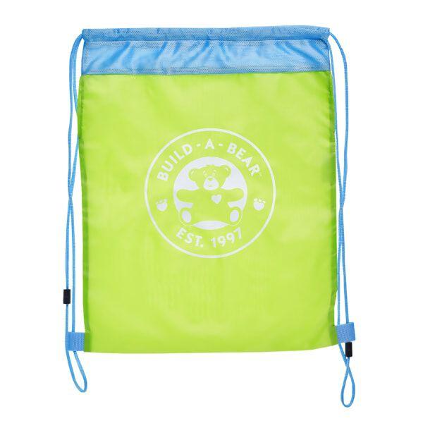 Lime Green Reusable Drawstring Backpack, , hi-res