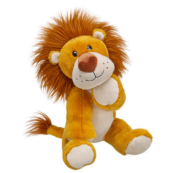 This adorable plush lion, with its snuggly mane and heart-shaped nose, is wild about YOU! Personalize Huge Hearted Plush Lion with clothing and accessories to make the perfect unique gift for your loved one.
