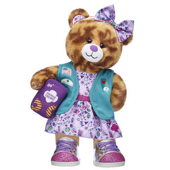 Coconut Caramel Cookie Bear Junior Girl Scouts® Gift - Build-A-Bear Workshop®
