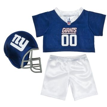 Teddy bear size New York Giants NFL Fan Set complete with jersey, pants and soft helmet makes the perfect gift for Giants fans!© 2014 NFL Enterprises LLC. Team names/logos are trademarks of the teams indicated.