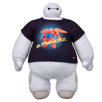 Dress any furry friend in a Baymax T-Shirt. This black tee features an image of Baymax from Big Hero 6. It's generously sized so it will fit on all furry friends.© Disney