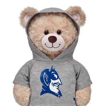 Go Blue Devils! This bear-sized Duke University hoodie has openings on the hood for your furry friend's ears.