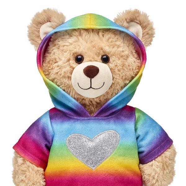 Rainbow Heart Hoodie, , hi-res
