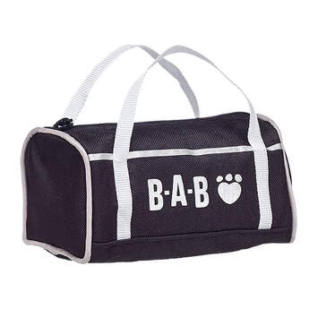 Your furry friend can take their gear anywhere with this Black Duffel Bag. Whether they're hitting the gym, going to practice, or going camping, this Black Duffel Bag is the perfect solution. This black bag has a white BAB graphic and white straps.