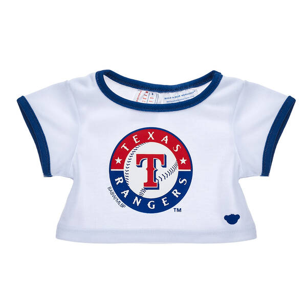 Make a grand slam of a gift for baseball fans with this Texas Rangers™ tee shirt for stuffed animals! Outfit a furry friend online to make the perfect gift. Free shipping on orders over $45. Make your own stuffed animal online with our Bear Builder or visit a store near you.