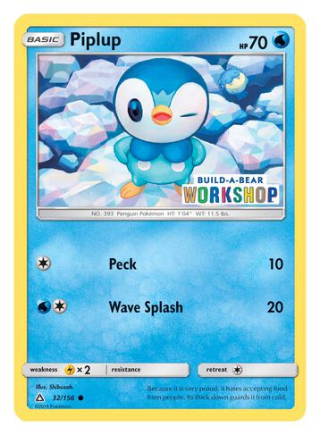Build-A-Bear Workshop Exclusive Pokémon Piplup TCG Card, , hi-res