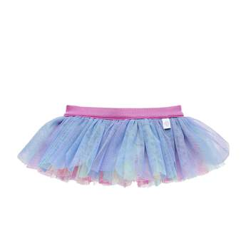 This pastel rainbow tutu for stuffed animals has colorful tulle layers. Outfit a furry friend online to make the perfect gift. Free shipping on orders over $45. Make your own stuffed animal online with our Bear Builder or visit a store near you.