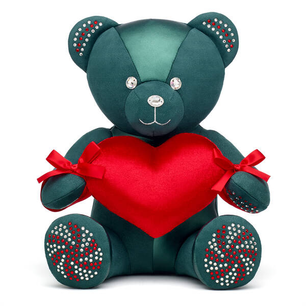 Online Exclusive Build-A-Bear Season's Sparklings Collectible Decorated with Swarovski® crystals Red Heart Gift Set, , hi-res