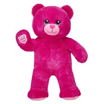 Give the brightest bear hugs ever with Lil' Fuchsia Cub! This adorable lil' teddy has bright fuchsia fur, blue eyes and a charming smile.