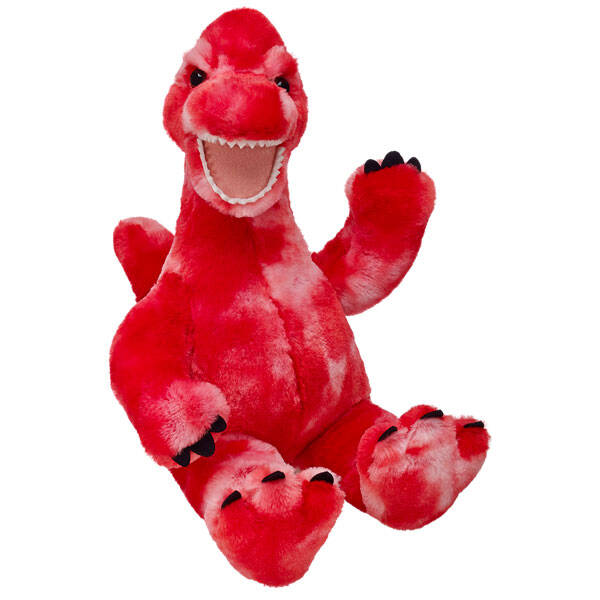 red brachiosaurus dino stuffed animal sitting