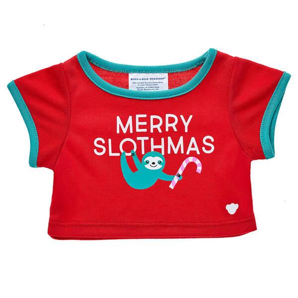 Online Exclusive Merry Slothmas T-Shirt - Build-A-Bear Workshop®