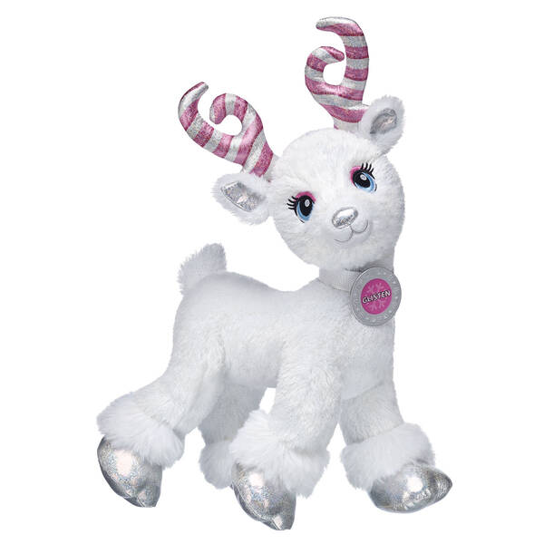 Candy Cane Glisten Christmas Reindeer Stuffed Animal