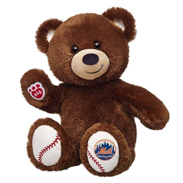 Bring your bear to the ballgame with this New York Mets teddy bear! Customize with MLB Baseball licensed clothing & accessories to give the perfect gift.