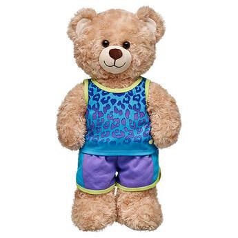 Turquoise Leopard-Print Outfit 2 pc. - Build-A-Bear Workshop®