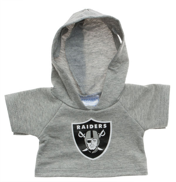 Touchdown! Cheer on the Oakland Raiders with this teddy bear sized hoodie. This gray hoodie with team logo makes the perfect gift for any football fan.© 2015 NFL Enterprises LLC. Team names/logos are trademarks of the teams indicated.