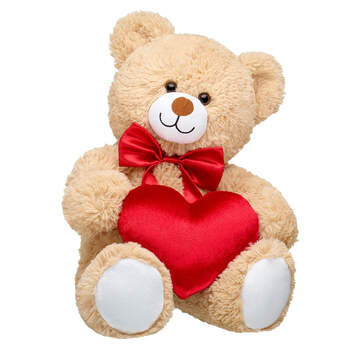 Online Exclusive Cuddly Brown Bear Red Heart Gift Set, , hi-res