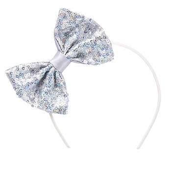 Silver Sequin Bow Headband - Build-A-Bear Workshop®