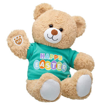 Online Exclusive Cuddly Brown Bear Happy Easter Gift Set, , hi-res