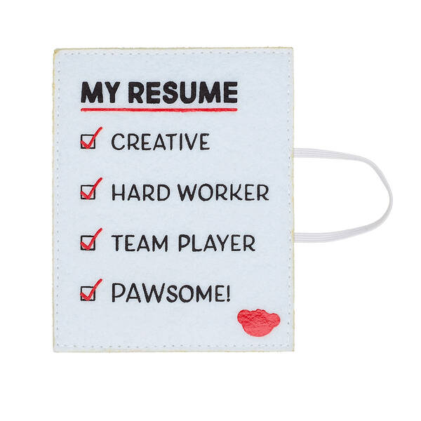 "Online Exclusive ""My Resume"" White Wristie - Build-A-Bear Workshop®"