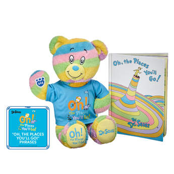 Online Exclusive Oh, the Places You'll Go! Bear & Book Gift Set with Sound, , hi-res