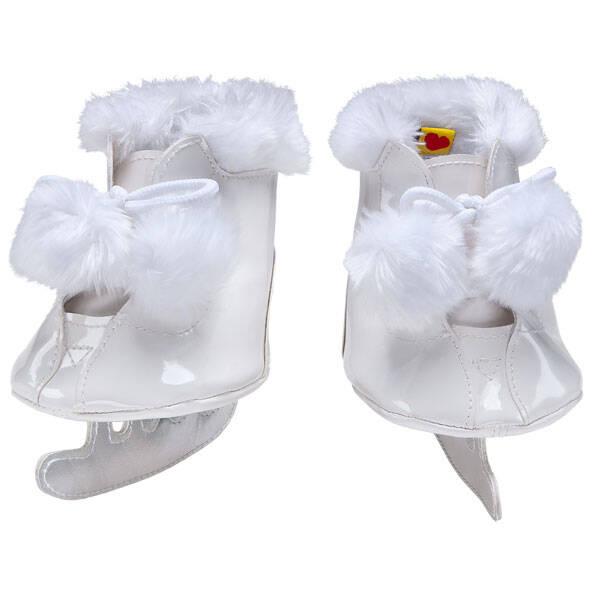White Pom Ice Skates - Build-A-Bear Workshop®