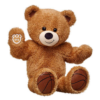 Slam dunk! With long legs and big arm muscles, Basketball Bear is ready to hit the court! The newest addition to the Build-A-Bear Workshop Sports Central.