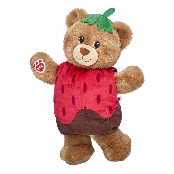 brown teddy bear with chocolate covered strawberry costume valentines day gift set