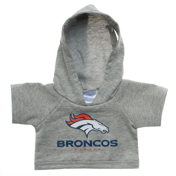 Touchdown! Cheer on the Denver Broncos with this teddy bear sized hoodie. This gray hoodie with team logo makes the perfect gift for any football fan.© 2015 NFL Enterprises LLC. Team names/logos are trademarks of the teams indicated.