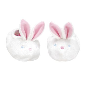 Hop to it! Keep your furry friend's paws warm in a pair of Bunny Slippers. These white bunny slippers are the perfect accessory for any furry friend!