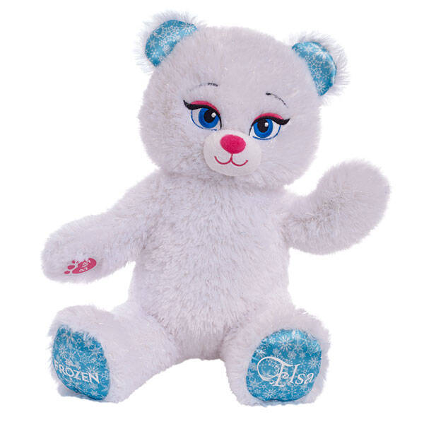 With this Frozen Elsa Plush teddy bear by your side, you never have to let it go! This loveable Disney Frozen Elsa Plush Teddy Bear is perfect for fans of Frozen and Queen Elsa of Arendelle. Its soft white and shimmering fur is great for snuggling. Plus, check out the Disney Frozen and Elsa logos on its paws. Personalize your Disney Frozen Elsa Plush Teddy Bear with clothing and accessories to make the perfect unique gift.© Disney