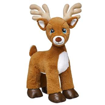 Make a holiday tradition with your own reindeer furry friend! With chestnut brown fur and adorable antlers, all of Santa's reindeer are ready to make it a season to remember!