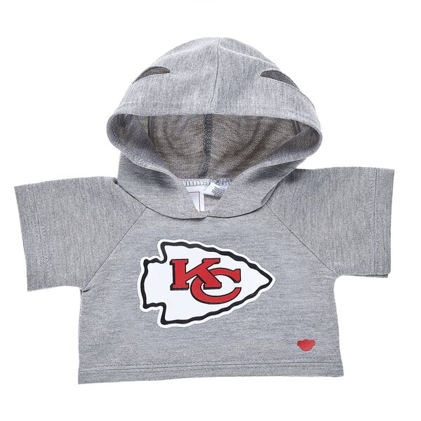 Touchdown! Cheer on the Chiefs with this teddy bear sized hoodie. This cool hoodie with team logo makes the perfect gift for any football fan. © 2017 NFL Enterprises LLC. Team names/logos are trademarks of the teams indicated.