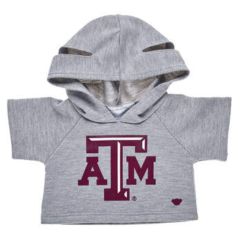 Go Texas A&M! This bear-sized Texas A&M University hoodie has openings on the hood for your furry friend's ears.