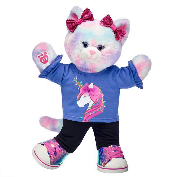 Pastel Swirl Kitty Holiday Unicorn Gift Set, , hi-res