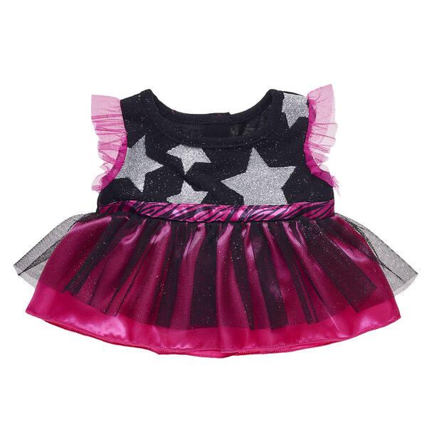 Fuchsia and Black Star Dress - Build-A-Bear Workshop®